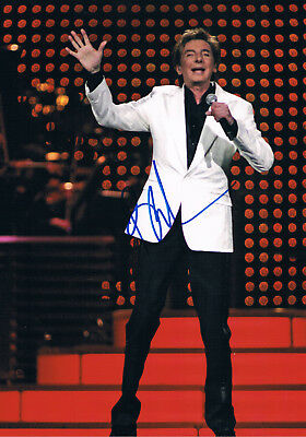 """Barry Manilow 1943- genuine autograph photo 8""""x12"""" signed In Person"""