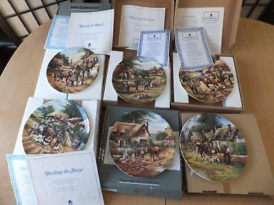 Wedgwood Country Days Collectors Plates 4 With certificates 2 and Boxes x 6
