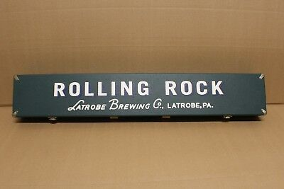 Rolling Rock Beer 2 piece Pool Cue, Case, Ball, Chalk Rare F1