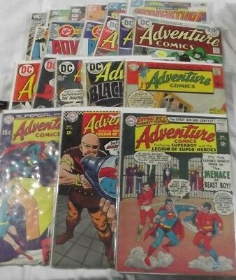 ADVENTURE COMICS lot of 20 vintage issues: DC 1965-2011 Silver Age,Bronze,Copper