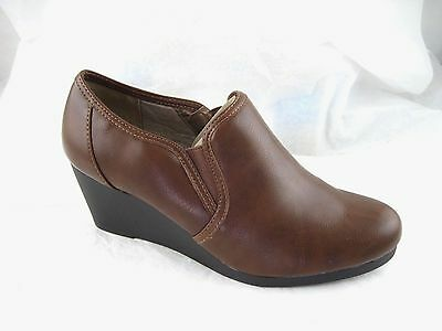 f59d70ea09ec LIFE STRIDE NEVER Dark Tan Brown Cowgirl Ankle Boots Booties 10W wide 10C  heels -  33.99
