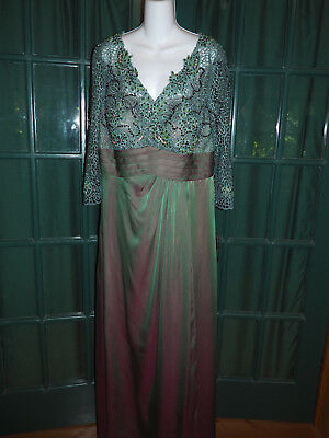 Night Scene Sage Formal Mother Of The Bride Gown Sz L New