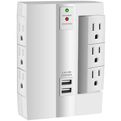 Wall Tap Surge Protector Wall-Mount Socket Power Surge Protection Smart Charging