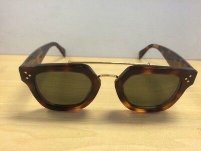 67c18cbaf1cb Celine CL 41077 s Sunglasses Square Havana (Tortoise) Solid Brown Lenses  47mm