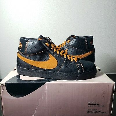 cheap for discount c1173 27711 NIKE SB BLAZERS Missions High Top - Sz 10 Pre Owned Black Orange