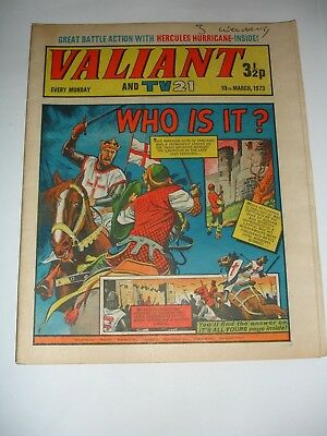 VALIANT And TV 21 comic 10th March 1973