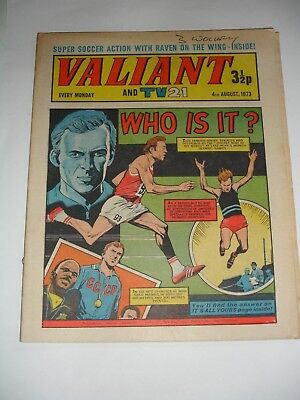 VALIANT And TV 21 comic 4th August 1973
