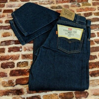 Vintage NOS Levi's 705 Jeans W 25 L 30 Student Boy's 90s Blue Denim Orange Tab
