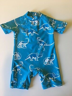 Baby boys blue dinosaur Next swimsuit size 9-12 months