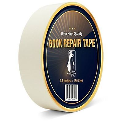 White Bookbinding Tape, Extra Long White Cloth Book Repair Tape for Bookbinders,