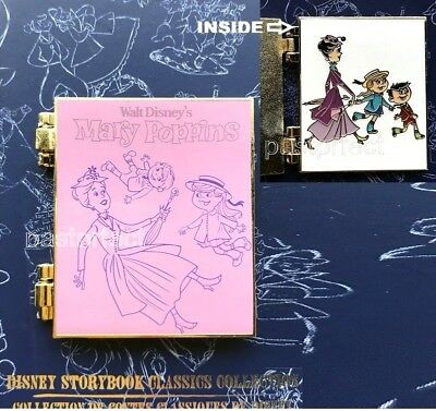 Disney Store LE Pin Mary Poppins Storybook Classics Book Collection 55 Yrs 2019