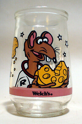 Vintage Welch's Jelly Jar Glass Muppets In Space #5 Rizzo's Lunar Lunch
