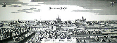 Etching King George II  Birthplace, Ducal City Celle Germany, Rare Vintage
