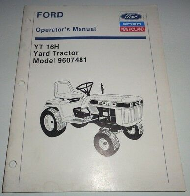 ford yt 16 yard tractor lawn mower garden operators owner manual rh picclick com Ford YT-16 Decals Old Ford Tractor Implements