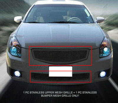 Fits 2007 2008 Nissan Maxima Black Stainless Steel Mesh Grille Grill