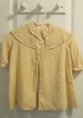 Antique Victorian-Edwardian Baby's Coat with Scalloped/Embroidered Cape Collar