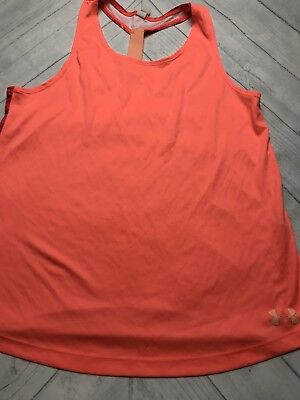 bafb40ed425720 GIRL S YOUTH UNDER Armour Heat Gear Loose Fit Tank Top -  15.99 ...