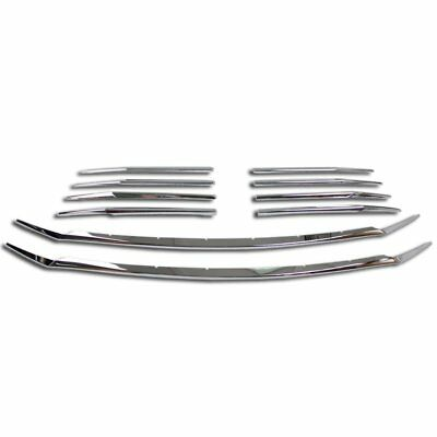 Fit  For Toyota Sienna 2018 Chrome Front Grill Grille Cover Trim Trims