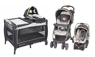 Baby Trend Stroller Car Seat Playard Crib Travel System Combo Set New