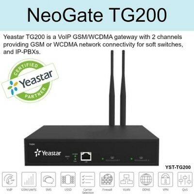 Yeastar TG200 NeoGate GSM Gateway VoIP Phone and Device (Authorized Distributor)