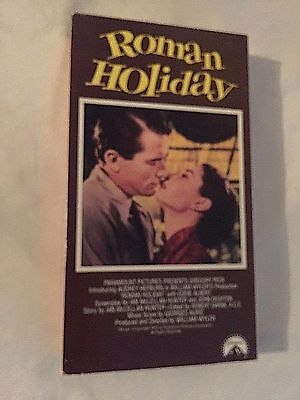 Roman Holiday,  Audrey Hepburn, Gregory Peck,  Vhs 1990 Paramount
