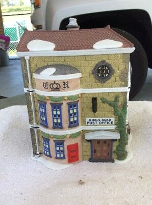 "Dept. 56 Dickens Village "" Kings Road Post Office "" # 58017 RETIRED"