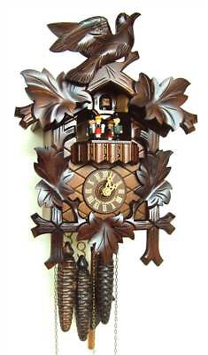 1-Day Carved Style Black Forest House Cuckoo Clock [ID 93466]