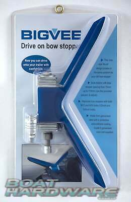 BIGVEE  Drive on bow stopper one size fits all galvanised steel polyurathane