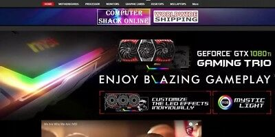 LOOK! Website Ready - MSI COMPUTER PRODUCTS. Online Business For Sale ✅