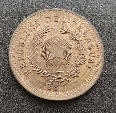 Paraguay Pattern 50 Cents 18xx On Argentina 2 Cents 1887 In UNC