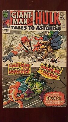 Tales To Astonish #63 - KEY ISSUE!! 1ST FULL APPEARANCE OF THE LEADER!! - GD/VG