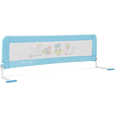 69'' Breathable Baby Children Toddlers Bed Rail Guard Safety Swing Down Foamed