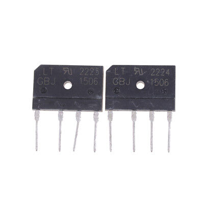 2PCS GBJ1506 Full Wave Flat Bridge Rectifier 15A 600V FJ FH