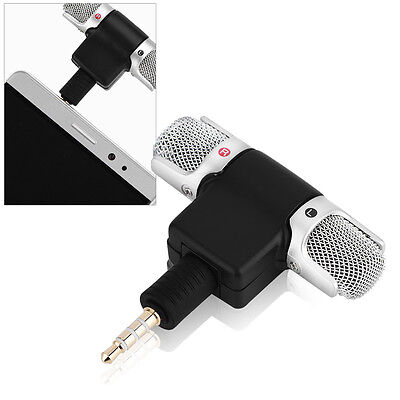 Portable Mini Mic Digital Stereo Microphone Wireless for Recorder Mobile fS