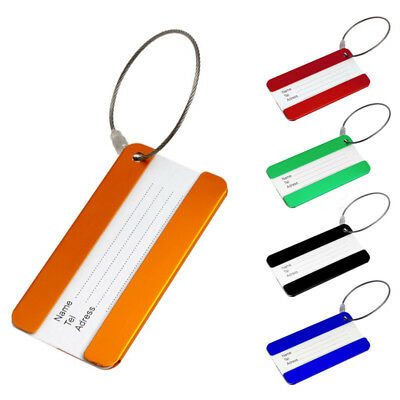 Cool Aluminium Travel Luggage Baggage Tag Suitcase Identity Address Name Labels