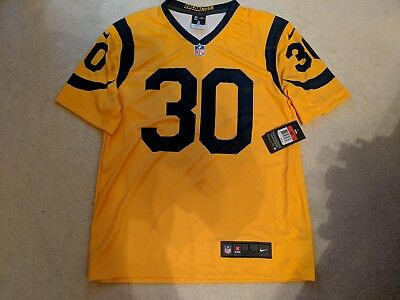 NEW NIKE COLOR Rush L.a. Rams  30 Todd Gurley Football Jersey Men s Large -   70.00  cf87339ac
