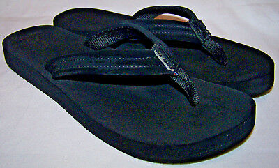 54f6b5f644f7 WOMENS REEF CUSHIONED Flip Flop Thong Sandals Black Size 10 -  15.99 ...
