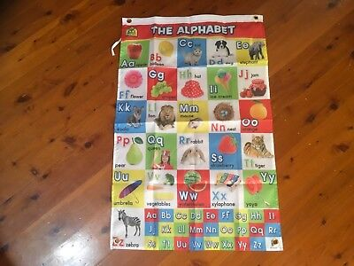learning chart literacy & numeracy alphabet Banner Poster printed maths  flag