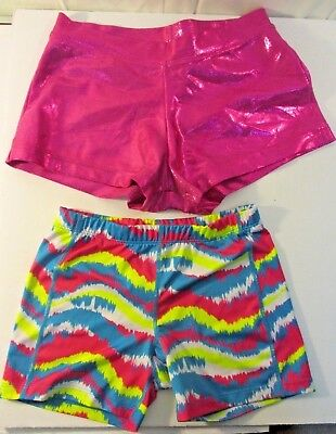 Girls Size Small CapezioTurquiose BCG Lot of 2 gymnastic dance Bootie Shorts
