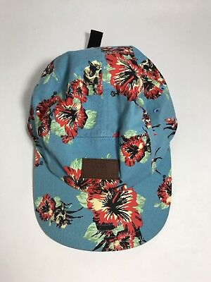 91535452e8d740 Vans X Star Wars Floral Yoda Aloha 5 Panel Camper Hat Cap Hawaiian Blue  Adjust