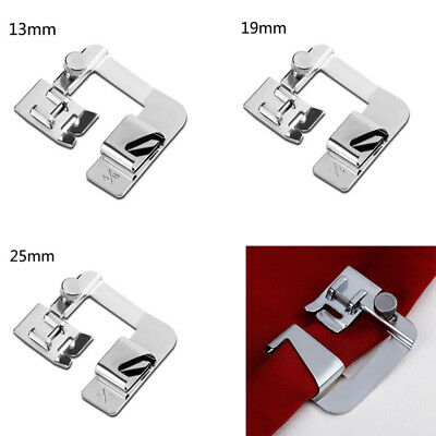 1pc Wide ROLLED HEM Hemmer Foot fit For Domestic Sewing Machines Snap on Presser