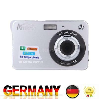 Kompakt DigitalKamera Video Camcorder HD 18MP 8X ZOOM Smile Capture Anti Shake