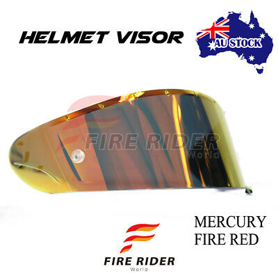 For Shoei RF-1200 X14 Z7 RF-SR Chrome Fire Red Tinted Racing Helmet Visor Shield