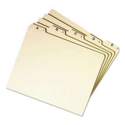 Smead® Recycled Top Tab File Guides, Alpha, 1/5 Tab, Manila, Lett 086486501767