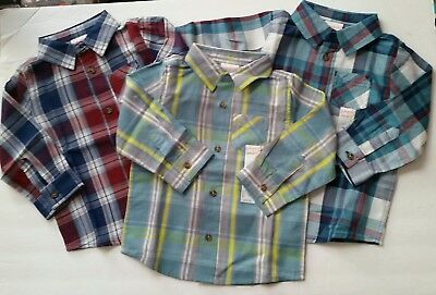 34dddd533687 18 MONTH BABY boy clothes lot of 3 NWT button up tops shirts long ...