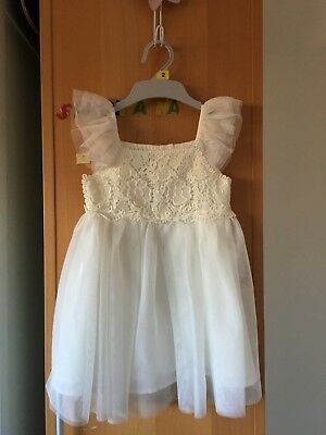 Girl's party white dress size 1