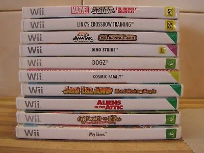 Wii Games Sonic, Dogz, Drawn to Life, Marvel, Sims, etc.You Pick 1 GC