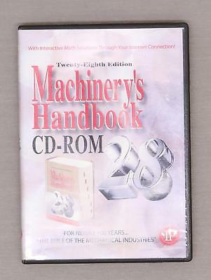 Machinery's Handbook 28th Edition by Erik Oberg and Franklin Jones (CD-ROM)
