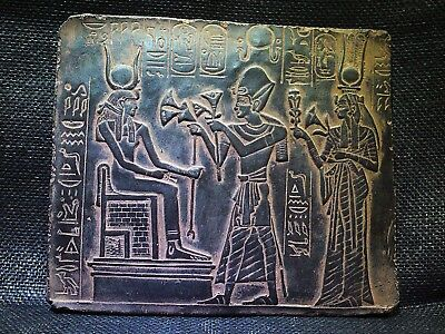 EGYPTIAN ANTIQUES  ANTIQUITIES Ramses Offering Lotus Stela Relief 1244-1274 BC