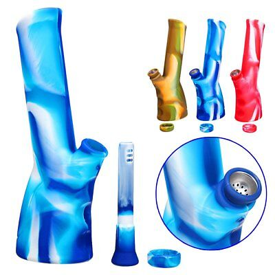 Silicone Tobacco Unbreakable Bong Portable Foldable Washable Hookah Water Pipe